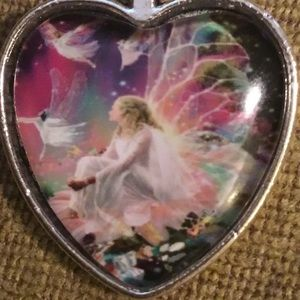 "Joyful Fairy Angel Necklace 19"""